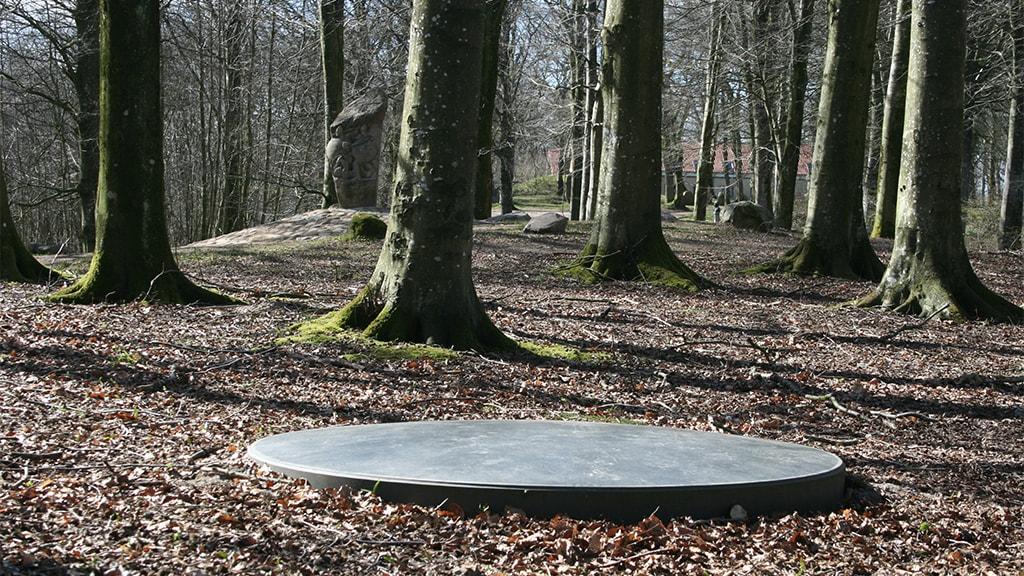 Moderne kunst i historisk mindepark: Lenticula i Skibelund Krat