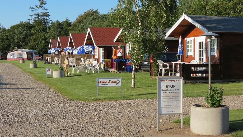Campinghytter på Holme Å Camping