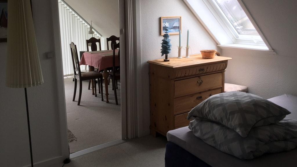 Soveværelse hos Hanne Jensen B&B