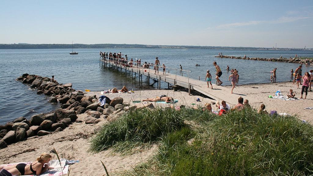 Sommerdag på Husodde Strand
