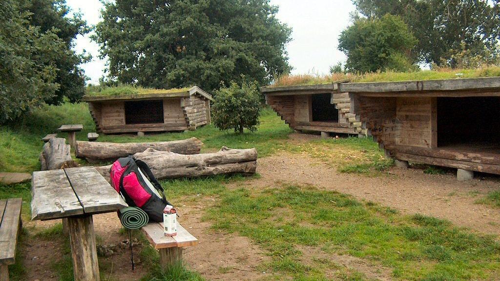 Sheltere på shelterplads i Lundum