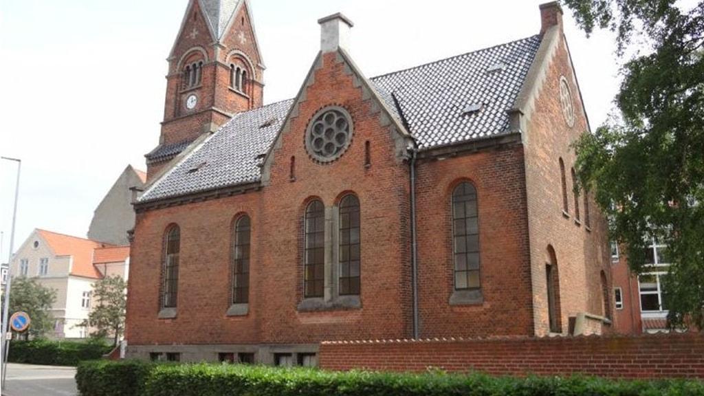 Getsemane Kirken i Horsens set udefra