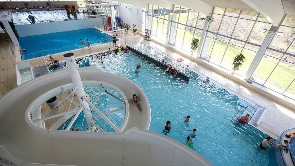 Vandrutsjebane Aqua Forum i Horsens set oppefra