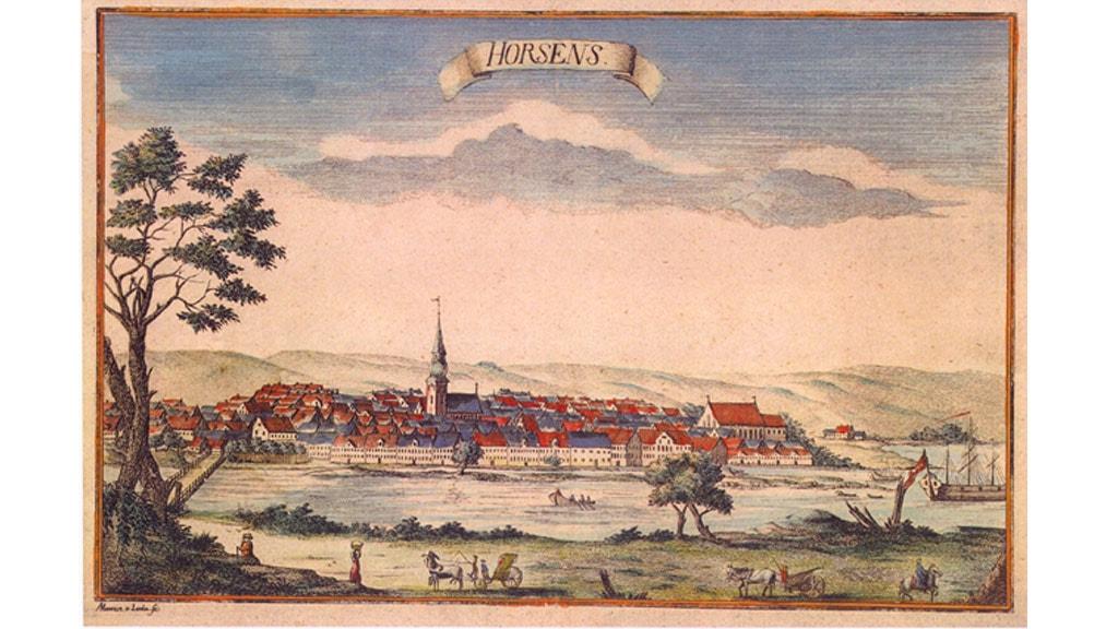 Gammel postkort med motiv af Horsens