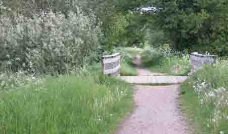 bro over bæk på naturstien Husodde-Søvind