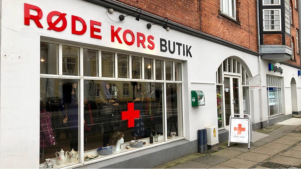 Røde Kors Genbrug Odder facade