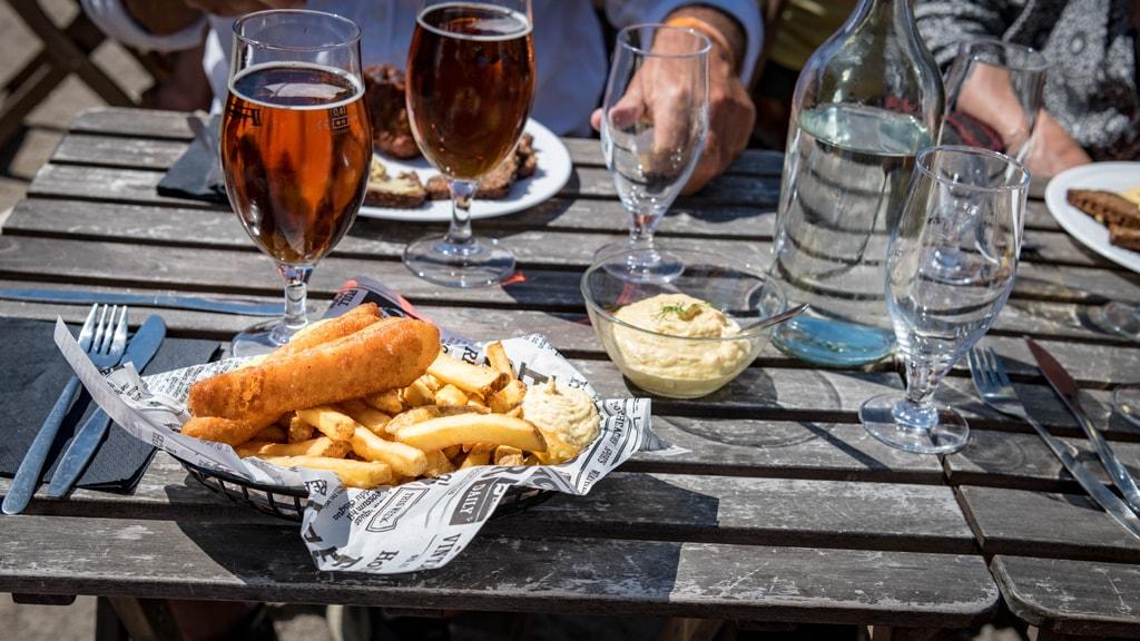 Tunø Røgeri fish and chips