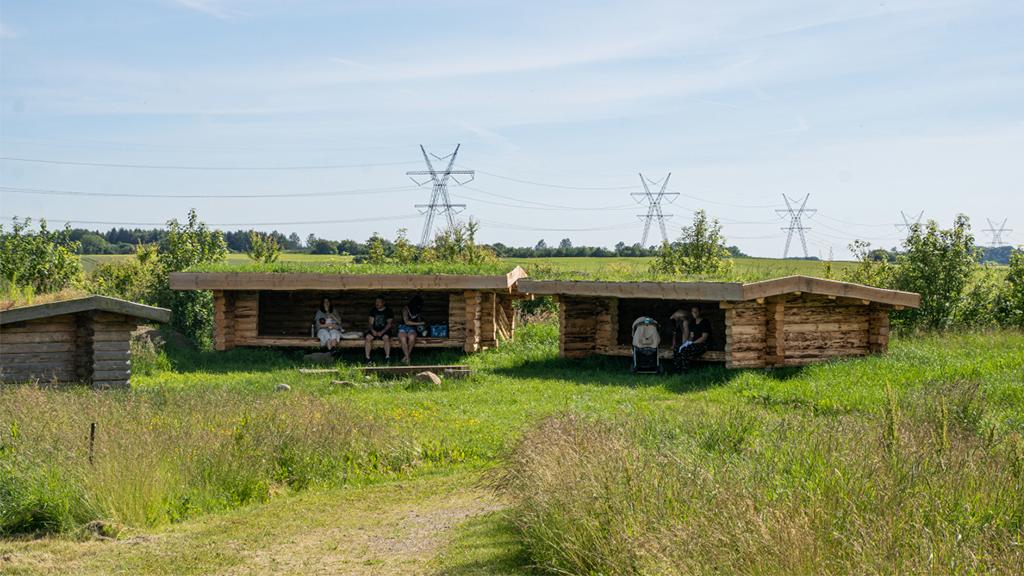 Shelters i Eventyrskoven emmelm Odder og Skanderbord