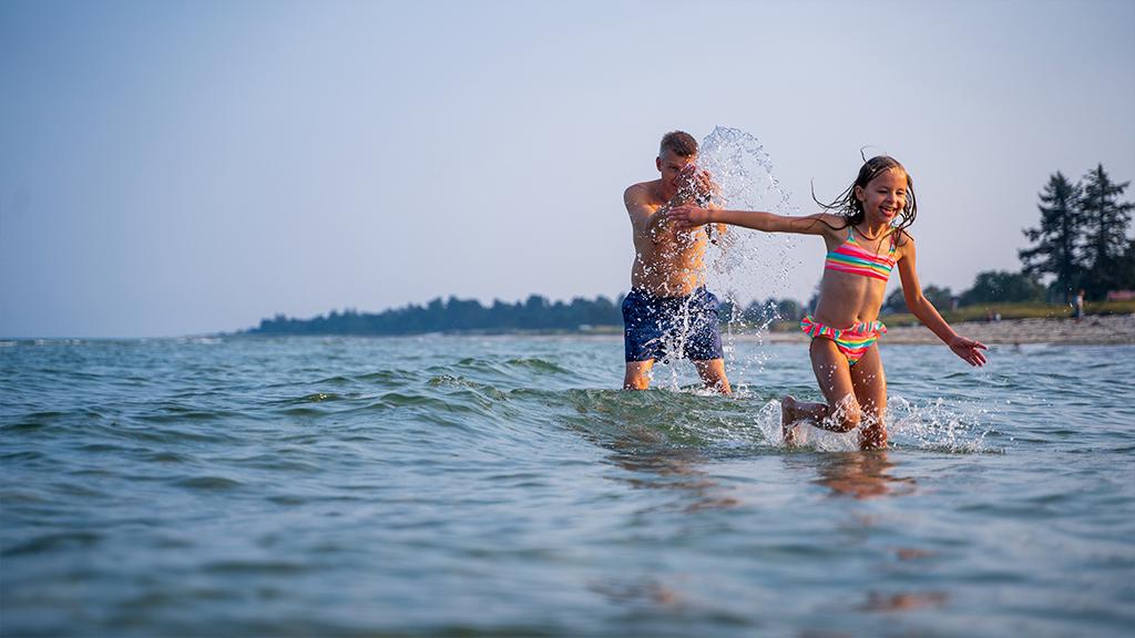 Saksild Strand er en populær børnevenlig strand