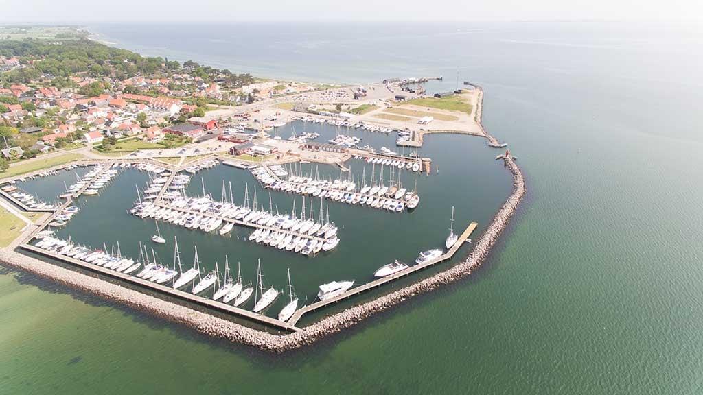 Hou Lystbådehavn luftfoto