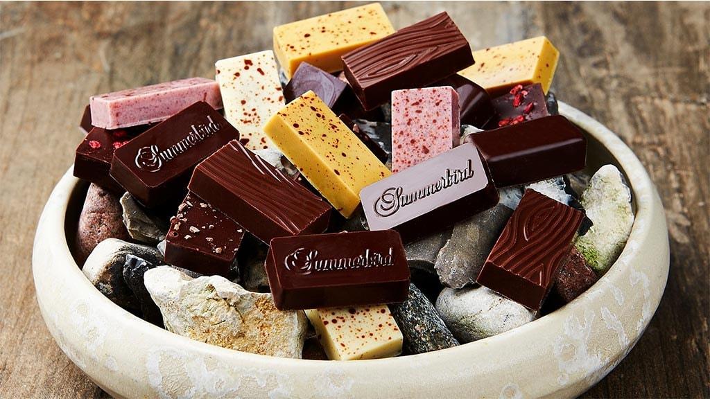 Chokolader i skål