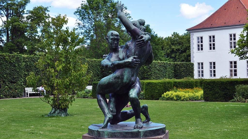 Skulptur Elskovskampen i Kongens Have