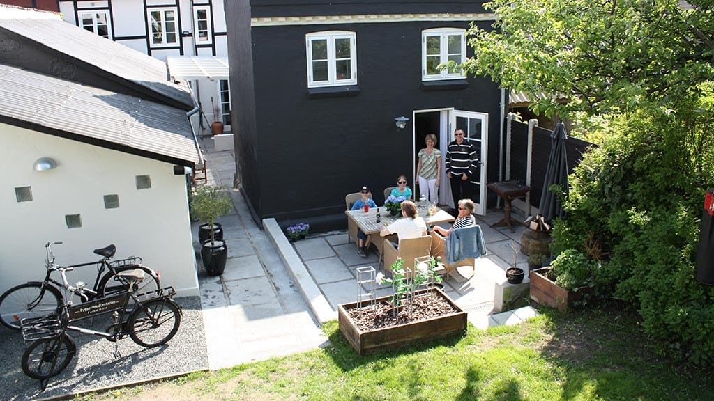 Terrassen ved B&B Jesper Thinggaard