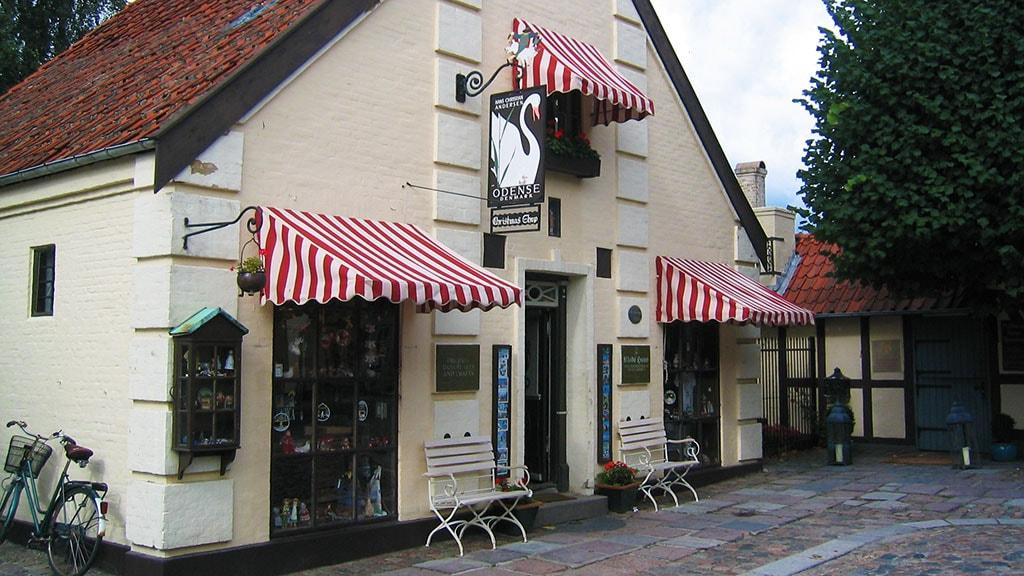 Klods Hans souvenir butik i Odense