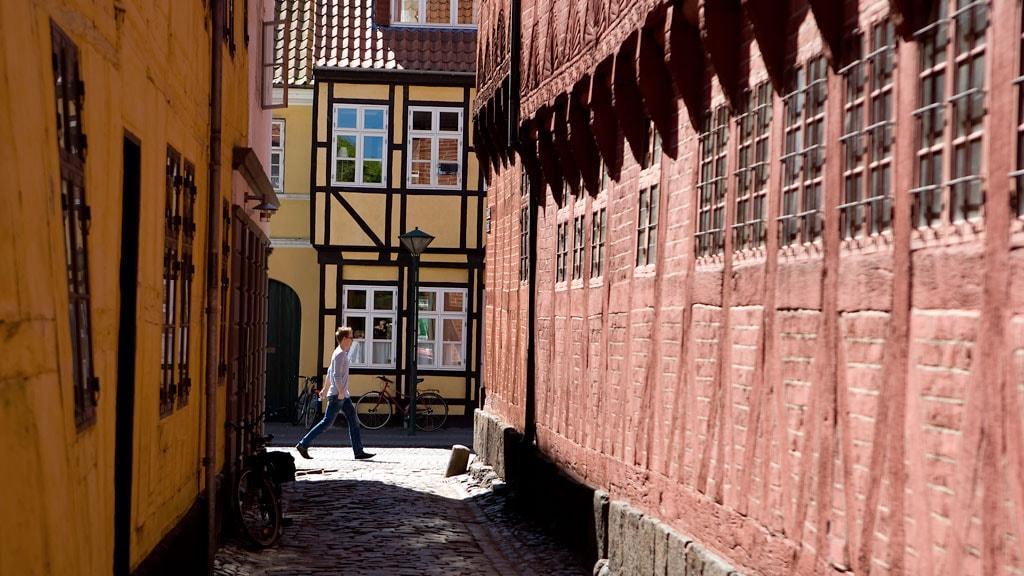 Fine gamle bygninger i Odense centrum