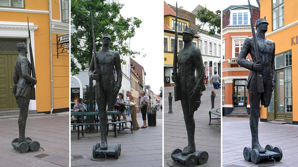 Skulpturen Den Standhaftige Tinsoldag - collage