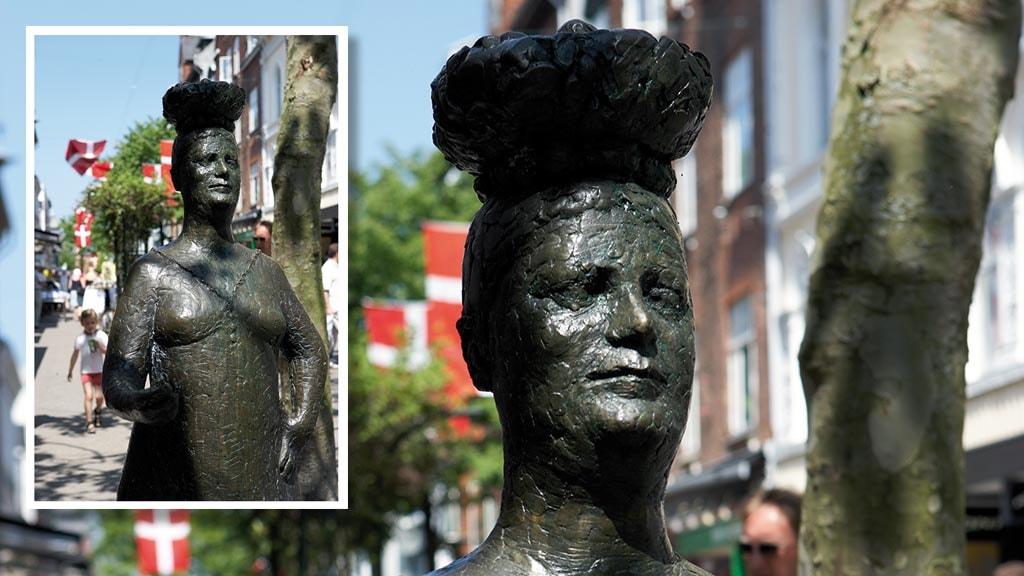 Skulptur Konen med Æggene i Kongensgade