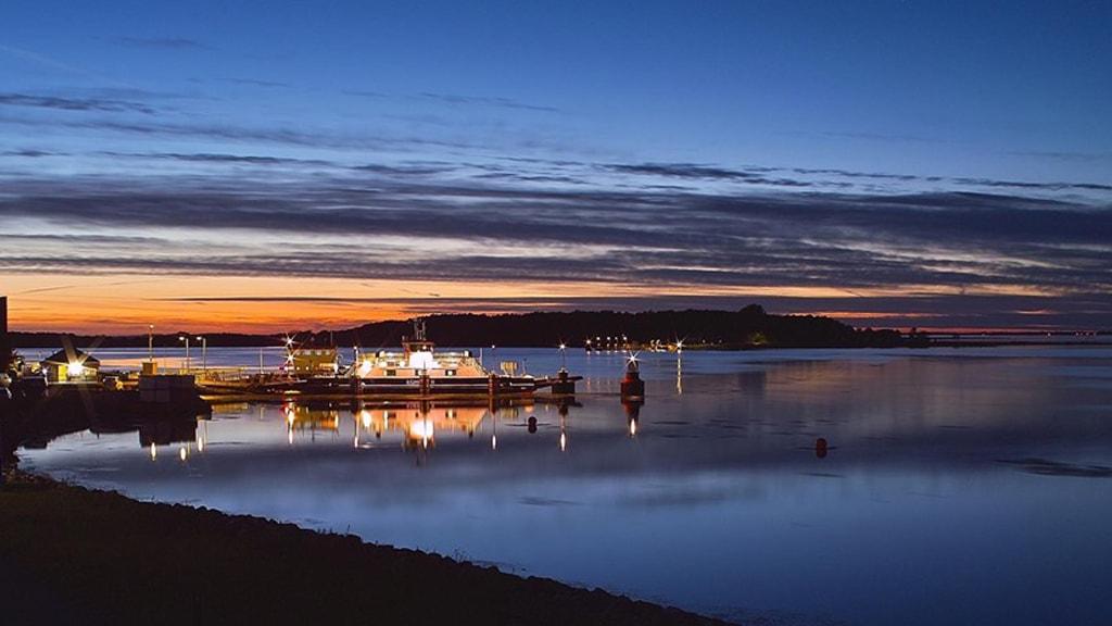 egholm-færgeleje-kronborg-udsigt-aften