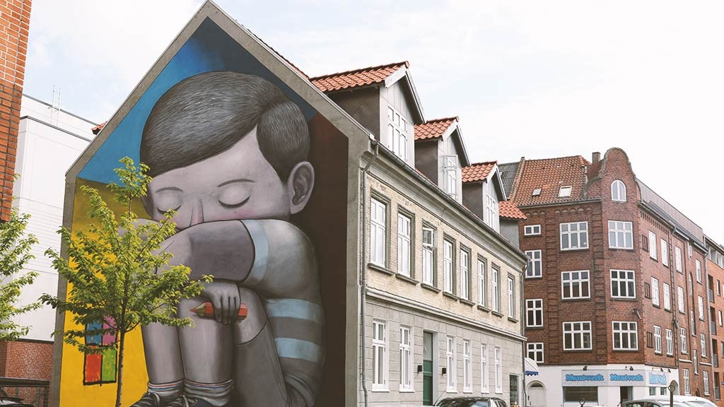 Seth street art i Aalborg
