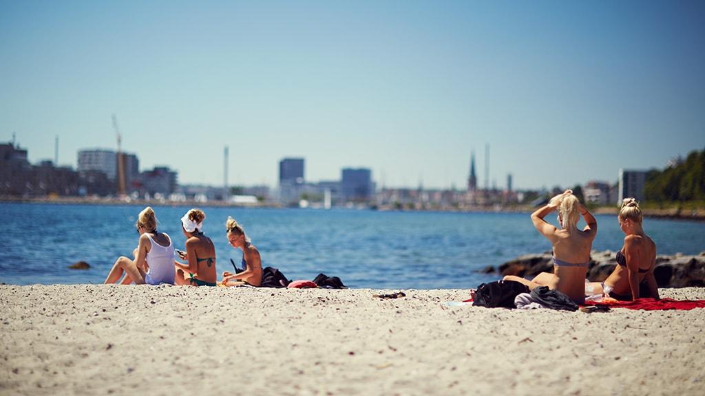 Stranden Den Permanente ligger tæt på Aarhus centrum