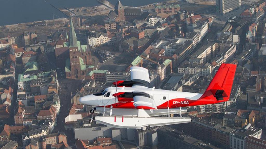 Nordic Seaplanes over Aarhus Centrum
