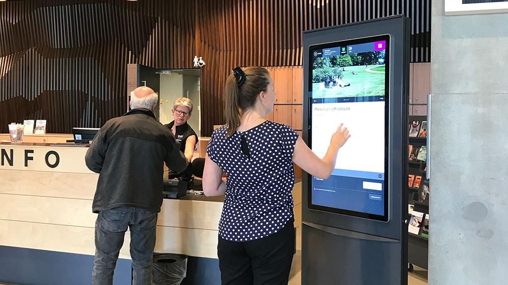 Turistinformation i Dokk1 i Aarhus