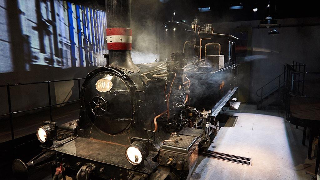 Lokomotivet i Aarhus Fortæller i Den Gamle By i Aarhus