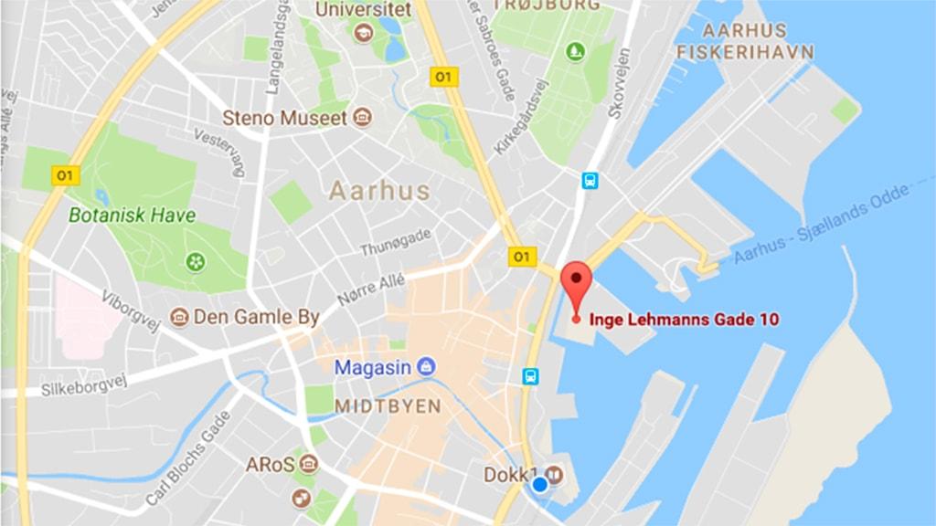Parkering under Navitas på Aarhus Havn