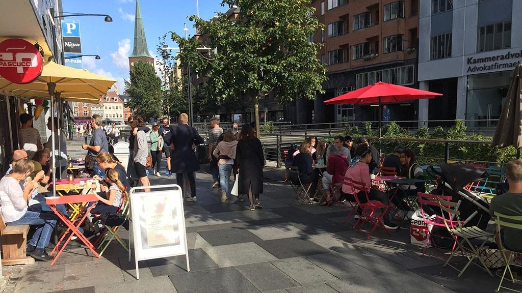 Suppestegogis en sommerdag i Aarhus