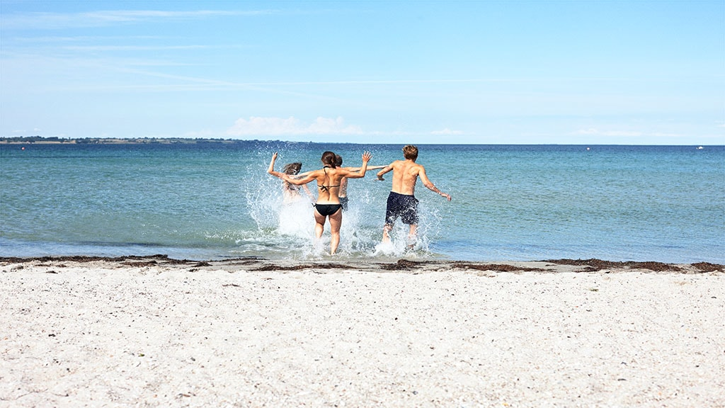 Venner på stranden i Aarhus