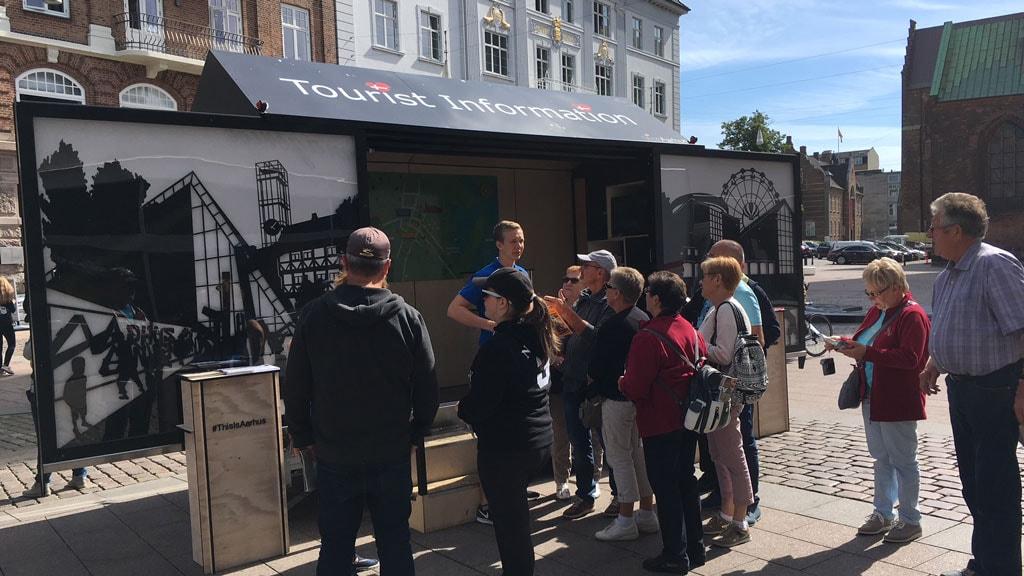 Turistinformation på Store Torv i Aarhus