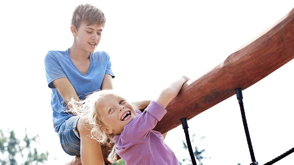 På Børnenes Jords legeplads er der masser af sjove aktiviteter