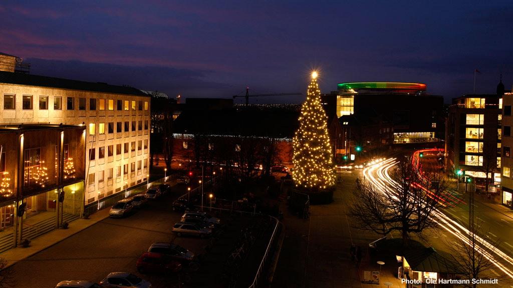 Jul på rådhuspladsen i Aarhus