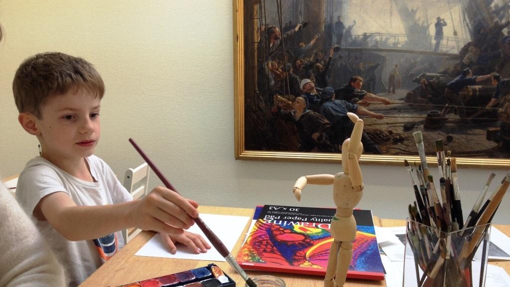 Mølsteds Museum dreng maler