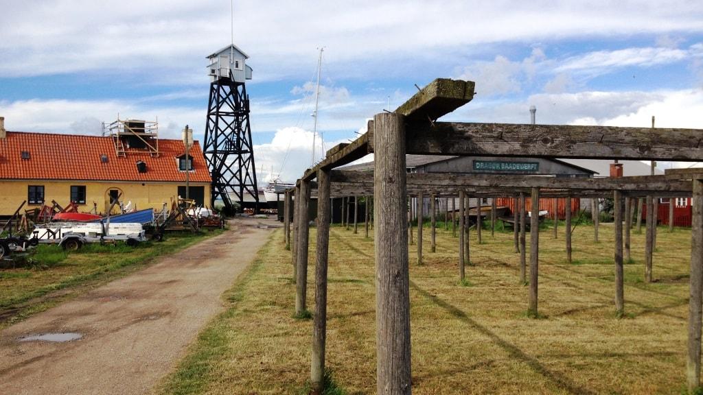 Dragør Havn Stejlepladsen mod Lodstårnet